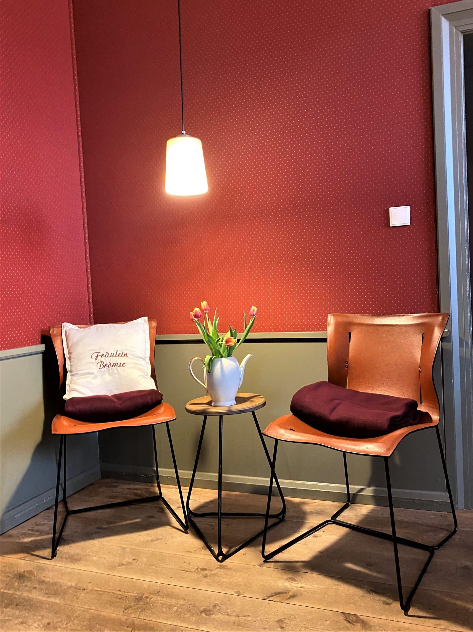 Sitzecke im Café Fräulein Brömse
