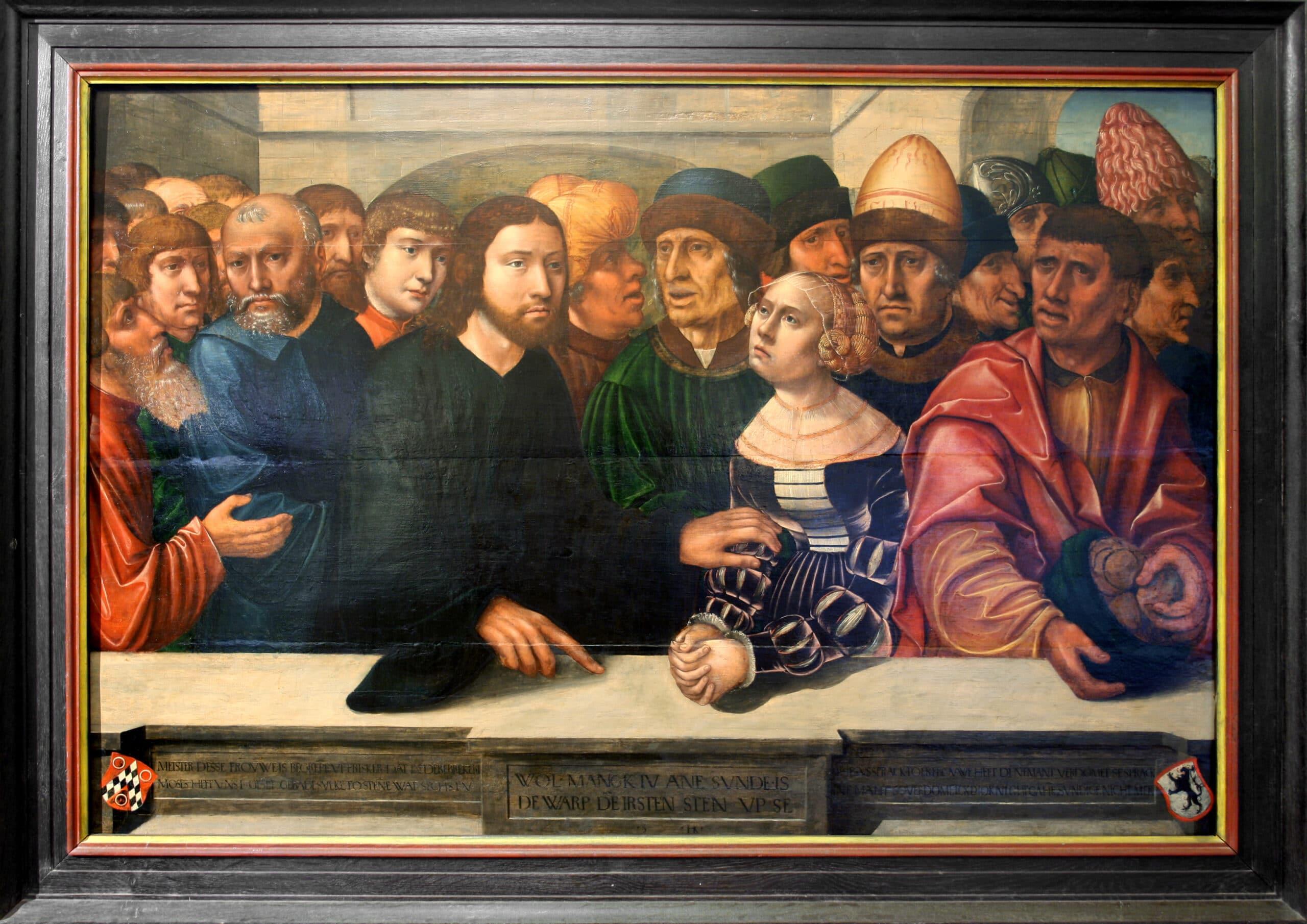 40 Hans Kemmer Christus und die Ehebrecherindes Johann Wigerinck 1530 scaled